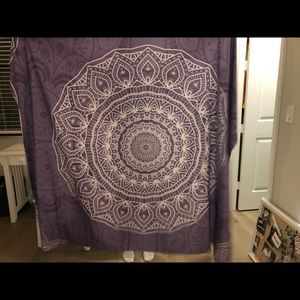 Society6 Purple Mandala Tapestry